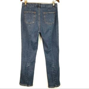 Soft Surroundings Button Ankle Cropped Jeans 10